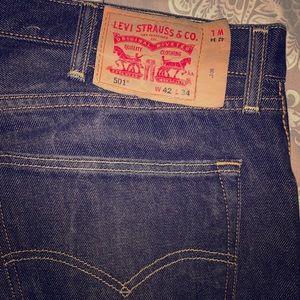 Levi indigo black wash jeans